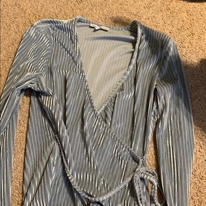 Charlotte Russe Tops - Dressy velvet shirt, long sleeved